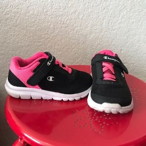 Champion pink and black strap shoes